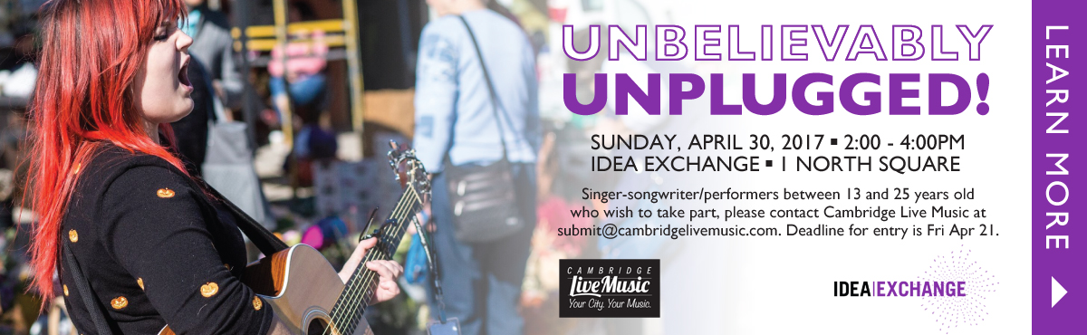 Unbelievably Unplugged - Apr 30 - Idea Exchange (Galt)